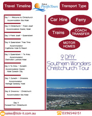 9 Day Southern Wonders Christchurch Tours Package